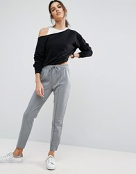 Asos Marl Track Pants With Zip Sides Grey Multi