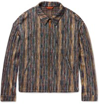 Missoni Cotton Blend Blouson Jacket Blue