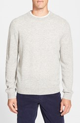Men's Big And Tall Nordstrom Cashmere Crewneck Sweater Grey Light Heather