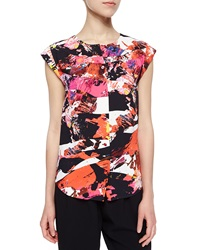Kenzo Mineral Printed Button Front Top