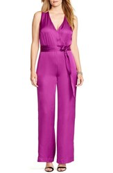 Plus Size Women's Lauren Ralph Lauren Charmeuse Wide Leg Jumpsuit