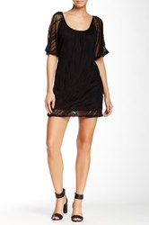 Glam Mesh Dress Black