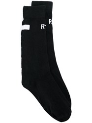 Rta Ankle Socks Cotton Nylon Polyester Spandex Elastane Black