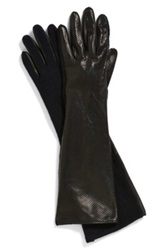 Vince Camuto Perforated Leather Gloves Black