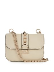 Valentino Lock Small Leather Shoulder Bag Cream