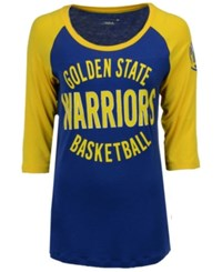 5Th And Ocean Women's Golden State Warriors Rayon Raglan T Shirt Royalblue