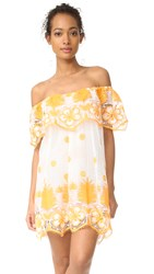 Miguelina Angeligue Off The Shoulder Dress White Mango