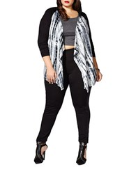 Mblm By Tess Holliday Tie Dye Open Front Cardigan