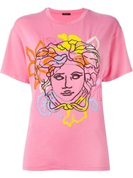 Versace Medusa Oversized T Shirt Pink And Purple