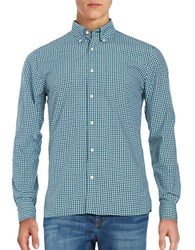 Brooks Brothers Gingham Sportshirt Blue