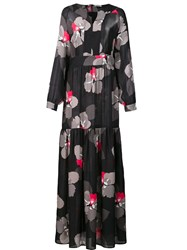 P.A.R.O.S.H. 'Satoko' Maxi Dress Black