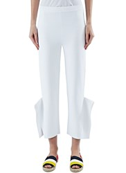 Stella Mccartney Slim Exaggerated Origami Cuff Pants White