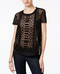 Bar Iii Burnout Top Only At Macy's Deep Black
