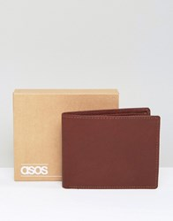 Asos Leather Wallet In Oxblood Oxblood Red