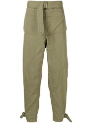 J.W.Anderson Jw Anderson Garment Dyed Army Trousers Green