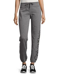 Calvin Klein Logo Drawstring Sweatpants Heather Grey