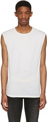 Blk Dnm White Relaxed Muscle 57 T Shirt