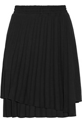 Brunello Cucinelli Pleated Woven Shorts Black
