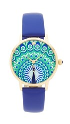 Kate Spade New York Novelty Leather Watch Blue Gold