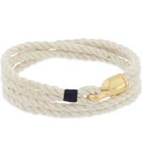 Miansai Trice Hook Wrap Bracelet Gold Natural