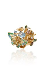 Anabela Chan M'o Exclusive Aqua Orchard Ring Gold