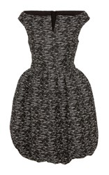 Paule Ka Tweed Ottoman Bubble Dress Black