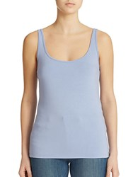 Lord And Taylor Petite Iconic Fit Slimming Scoopneck Tank Soft Peri