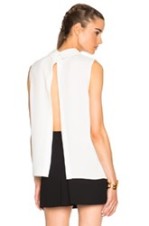 Mcq By Alexander Mcqueen Mcq Alexander Mcqueen Open Back Pleated Top In White