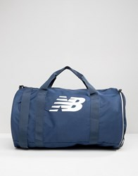 New Balance Barrel Duffle Bag In Blue Blue