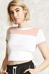 Forever 21 Colorblock Cropped Tee