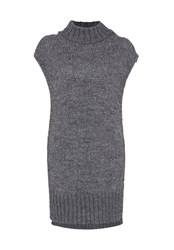 Hallhuber Chunky Knit Long Tunic Grey