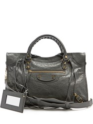 Balenciaga Classic City Medium Leather Tote Grey