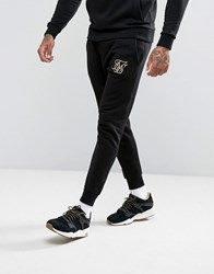 Sik Silk Siksilk Joggers In Black With Gold Logo Black