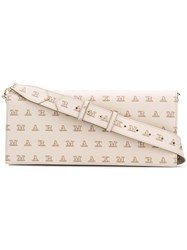Max Mara Logo Print Baguette Bag Nude And Neutrals