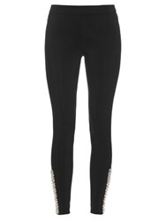 No Ka'oi Kuna Embellished Performance Leggings Black