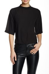 Valette Elbow Length Sleeve Boxy Blouse Black