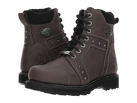 Harley Davidson Oakleigh Grey Lace Up Boots Gray
