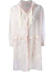 Forte Forte Sheer Hooded Raincoat Pink And Purple