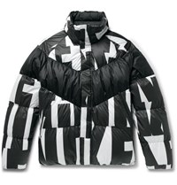 Nike Sportswear Quilted Printed Shell Down Jacket Black