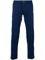 Re Hash Straight Leg Chinos Men Cotton Spandex Elastane 30 Blue
