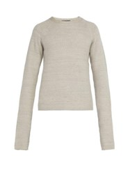 Denis Colomb Long Sleeved Cashmere Sweater Beige