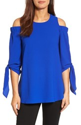Gibson Women's Cold Shoulder Top Neon Royal