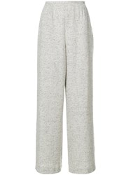 Jean Louis Scherrer Vintage Palazzo Trousers Nude And Neutrals