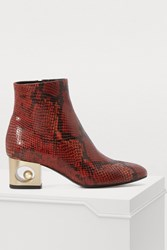 Coliac Tiffany Ankle Boots Red