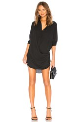 Krisa Drape Button Front Mini Black