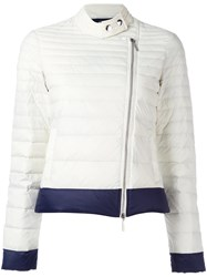 Armani Jeans Zip Up Puffer Jacket White