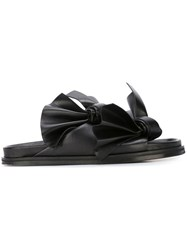 Cedric Charlier Knotted Strap Sandals Black
