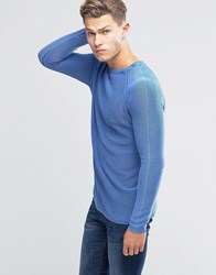 United Colors Of Benetton Ribbed Jumper With Crew Neck Blue 366