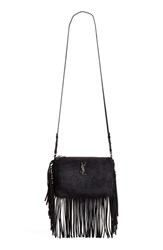 Saint Laurent Fringe Suede Crossbody Bag