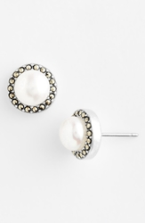 Judith Jack Freshwater Pearl Stud Earrings Sterling Silver